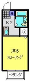カトレア1階Fの間取り画像