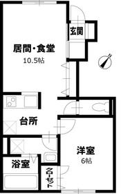 衣笠駅 バス3分「井戸店」徒歩2分1階Fの間取り画像