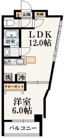東中野駅 徒歩2分4階Fの間取り画像