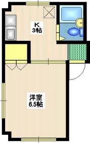 フラット2463階Fの間取り画像