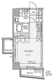 Ti-HIGASHIAZABU4階Fの間取り画像