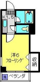 ビバリー日吉2階Fの間取り画像