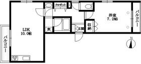 アネシス南馬込2階Fの間取り画像