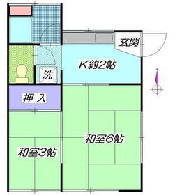 吉井荘1階Fの間取り画像