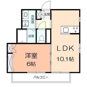 (仮称)アメニティー金沢区釜利谷南2丁目マンション2階Fの間取り画像