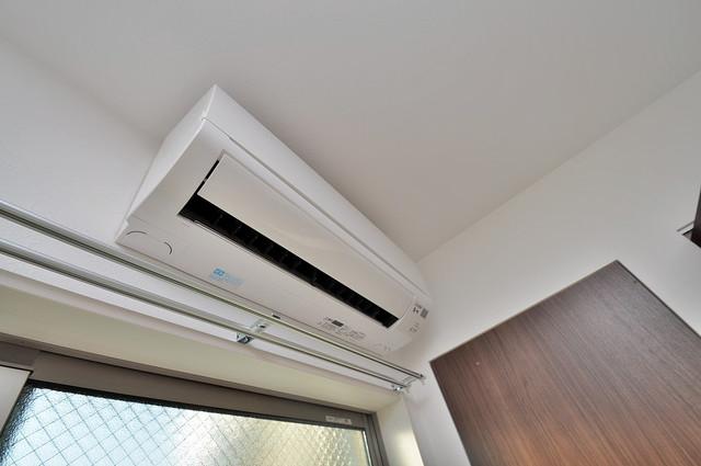 Fmaison verdeⅡ(エフ メゾン ベルデ) エアコンが最初からついているなんて、本当に助かりますね。