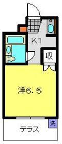 シャトル大恵F2階Fの間取り画像