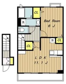 アマデウスハウス2階Fの間取り画像