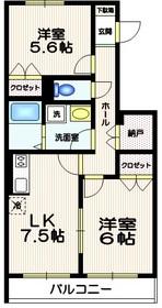 コンフォルト西新宿2階Fの間取り画像