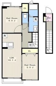 ルシアンアマーレ2階Fの間取り画像