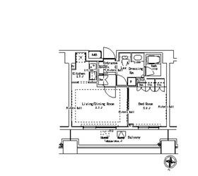 パークアクシス御茶ノ水ステージ8階Fの間取り画像