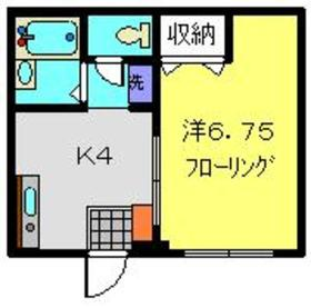 武蔵新城駅 徒歩7分1階Fの間取り画像