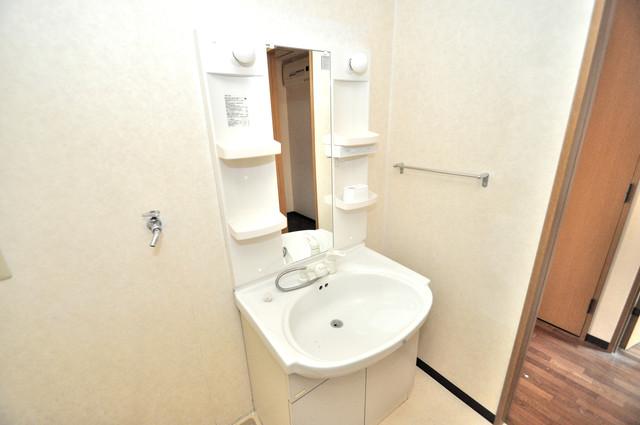 レシェンテオクノ 独立した洗面所には洗濯機置場もあり、脱衣場も広めです。