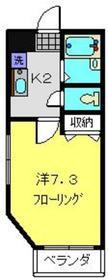 横浜元町ガーデンⅡ2階Fの間取り画像