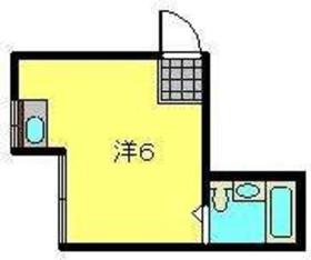 コーポ中川A棟1階Fの間取り画像