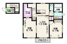 ベルツリー大和田 ペット共生2階Fの間取り画像
