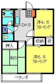 プラムガーデンB2階Fの間取り画像