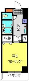 野毛山ポートヒルガーデン6階Fの間取り画像