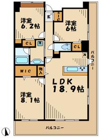 ロイヤルパークス若葉台9階Fの間取り画像