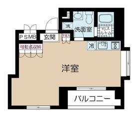 カイザー赤坂7階Fの間取り画像