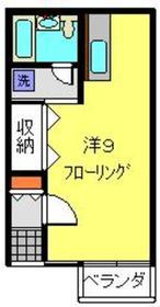 森アパート1階Fの間取り画像