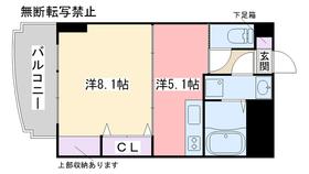 エリタージュ2階Fの間取り画像