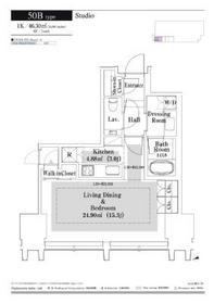 ラ・トゥール新宿グランド6階Fの間取り画像