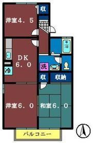 カサヴェールAsahi1階Fの間取り画像