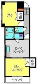 パレスコスゲ2階Fの間取り画像