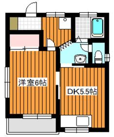坂栄荘2階Fの間取り画像
