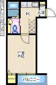 Mレーヴ1階Fの間取り画像
