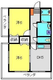 ビューハイム・コヤナギ・磯子3階Fの間取り画像