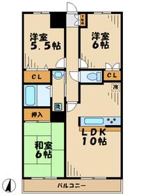 フォンテン246階Fの間取り画像