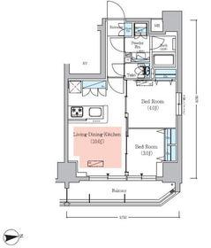 アーバネックス秋葉原EASTⅢ4階Fの間取り画像