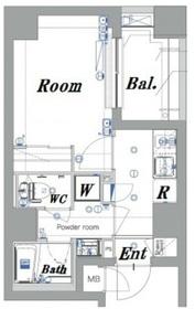 メイクスデザイン横浜阪東橋7階Fの間取り画像