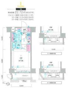 ジェノヴィア横浜鶴見市場スカイガーデン3階Fの間取り画像