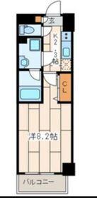 クリスタルK横浜5階Fの間取り画像