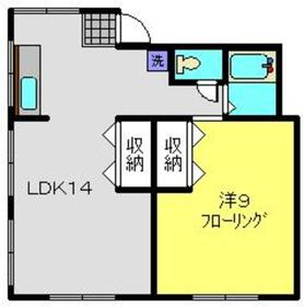 パールハイムA2階Fの間取り画像