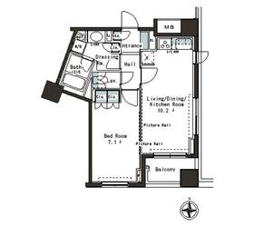 パークアクシス本郷の杜4階Fの間取り画像