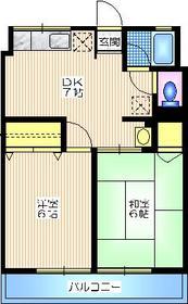 シティハイム シムラA2階Fの間取り画像