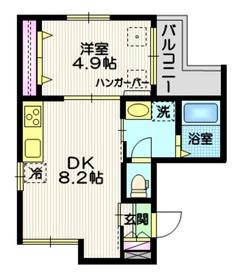 (仮称)千住中居町メゾン2階Fの間取り画像