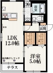 Kaoyu1階Fの間取り画像