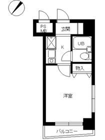 スカイコート世田谷用賀第25階Fの間取り画像