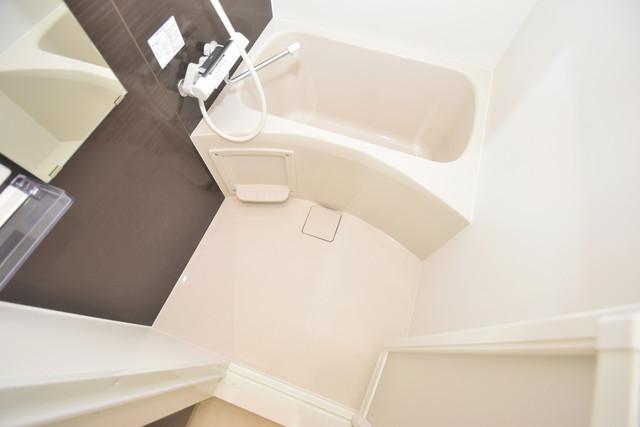 メルベージュ布施 ちょうどいいサイズのお風呂です。お掃除も楽にできますよ。