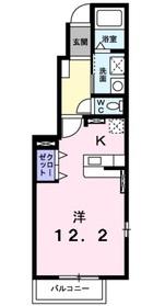 チェリーフィールドノース1階Fの間取り画像