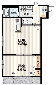 Silk Residence N1階Fの間取り画像