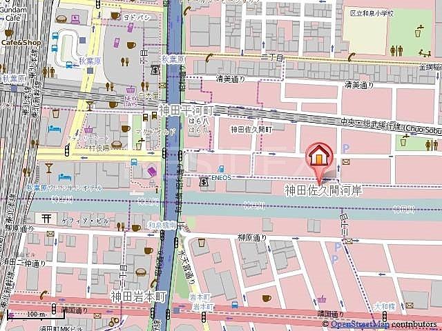 秋葉原駅 徒歩3分案内図