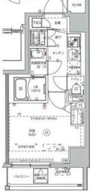 MAXIV川崎7階Fの間取り画像