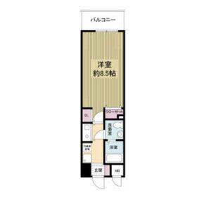 レジディア天神橋4階Fの間取り画像