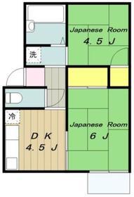 山口ハイツ1階Fの間取り画像